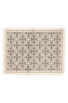 パターンバスマット - ナチュラルホワイト/アンスラサイトグレー - Home All | H&M JP 1