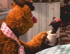 Fozzie Bear and Rizzo the Rat in The Muppets Take Manhattan