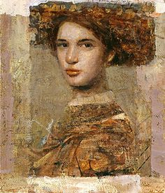 """""""Lady From Florence"""" oil/mixed media on canvas  - MERSAD BERBER"""