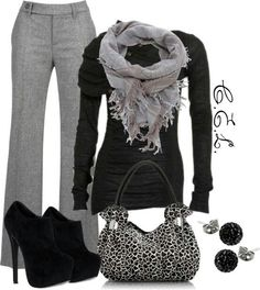 Great for the cold weather! Different shoes and purse though