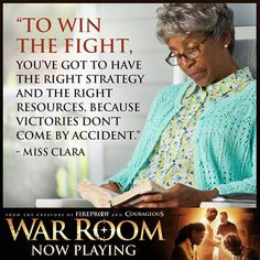 I needed this tonight.  To win the fight, you've got to have the right strategy and the right resources, because victories dont come by accident.   Amen #WarRoom