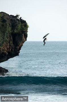Surfing Magazine's the surfing list number 47.) jump off something high to the surf (pier, cliff, helicopter, etc)