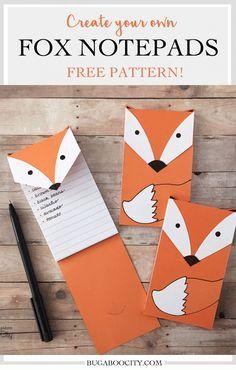 FREE printable fox note pads