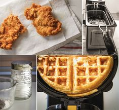 Center Stage: Korean Chicken and Waffles Sandwich from Broad Appetite Yummy Waffles, Fluffy Waffles, Belgian Waffle Maker, Belgian Waffles, Breakfast Sandwich Maker, Breakfast Recipes, Hamilton Beach Waffle Maker, Fried Chicken Ingredients, African American Food