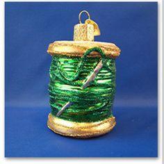 Sewing Thread Quilt Merck Old World Christmas Glass Christmas Ornament 32104 | eBay