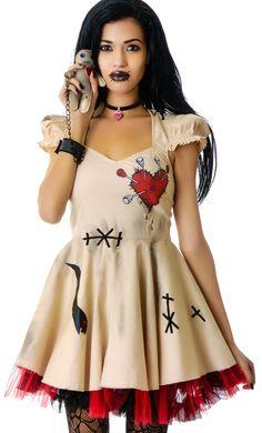voodoo doll costume | Lip Service Voodoo Doll Costume | Dolls Kill