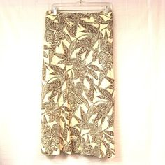 Linen Skirt 20W 2X No Slit Plus Size Beige Taupe Summer Floral Lili Hawaiian  #Styleco #ALine #Hawaiian #Skirt #Career #Fashion #PlusSize #Shopping #eBay