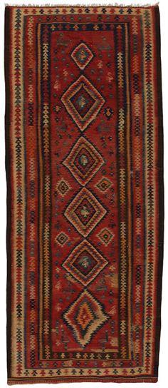 "Qashqai - Kilim 9'10""x4'0"" - CarpetU2"