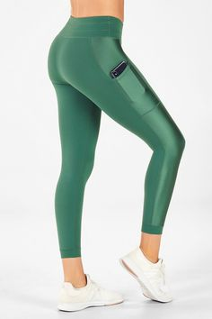 Womens YOGA Gym Pants Capri Leggings Fitness Muti-Colors w Pockets #295