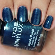 CND VINYLUX Peacock Plume | Fall 2015 Contradictions Collection | Peachy Polish