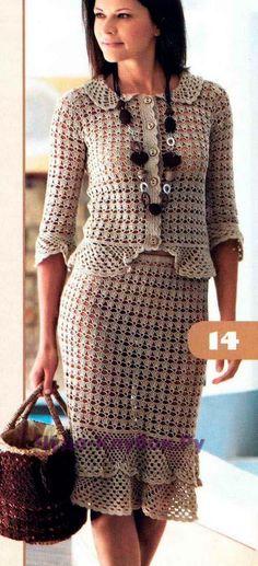 Жакет, юбка и сумка 103