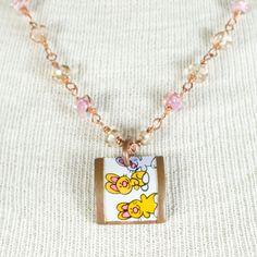 sterling silver stamped necklace Chalcedony Chrysocolla Amethyst Necklace michele grady boho necklace tribal necklace,