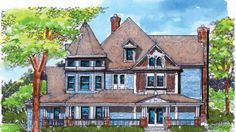 Queen Anne House Plan with 4898 Square Feet and 5 Bedrooms(s) from Dream Home Source | House Plan Code DHSW72906