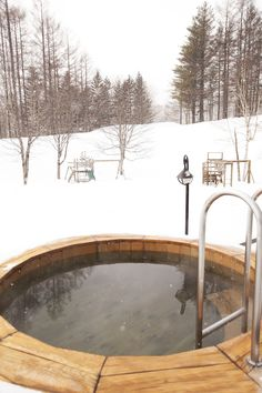 Relax outside in the Canadian bath after a great ski day!