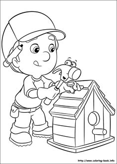 handy manny coloring page - Handy Manny Hammer Coloring Pages