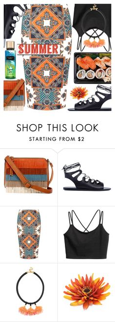 """Summer"" by barbarela11 ❤ liked on Polyvore featuring T-shirt & Jeans, Ancient Greek Sandals, Dorothy Perkins and BaubleBar"