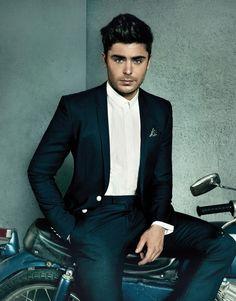 Zac + Motorcycle + Suit = Hello.