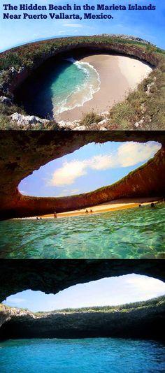 Hidden beach.