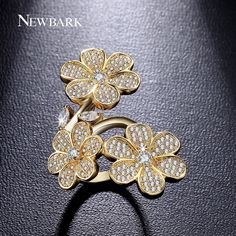 Find More Rings Information about NEWBARK Amazing Bling Rings 18K Plating 3…