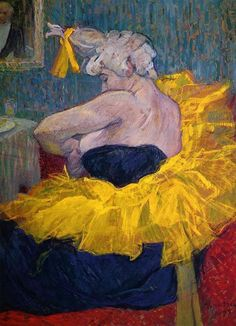 The Clowness Cha-U-Kao Fastening Her Bodice Henri Toulouse Lautrec 1895