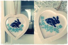 Mój pierwszy haft krzyżykowy  My first cross stitch  #haft #crossstitch #bunny #królik