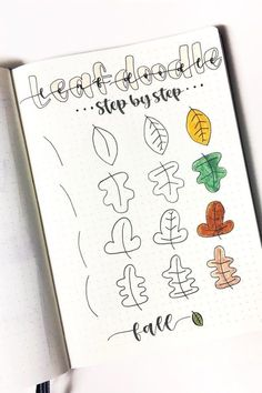 Best Bullet Journal Doodle Ideas For Halloween & Fall 2020 - Crazy Laura - - Starting your fall theme and need some deocration ideas? Check out these Fall and Halloween step by step bullet journal doodle tutorials for inspiration! Bullet Journal Font, Bullet Journal Ideas Pages, Bullet Journal Inspiration, Halloween Doodle, Fall Halloween, Halloween Drawings, Bellet Journal, Leaves Doodle, Bujo Doodles