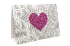 Pink Valentines Card Anniversary Card Pink by AmeliaRyCreations