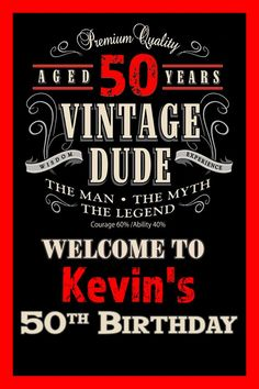 Vintage Dude Welcome Sign - Birthday Party Sign - Welcome Sign Birthday, Foam Board. Vintage Dude Welcome Sign – Birthday Party Sign – Welcome Sign Birthday, Foam Board S 50th Birthday Party Ideas For Men, 50th Birthday Party Decorations, Birthday Yard Signs, Elegant Birthday Party, 50th Birthday Cards, 90th Birthday Parties, 70th Birthday, Birthday Board, Birthday Candy