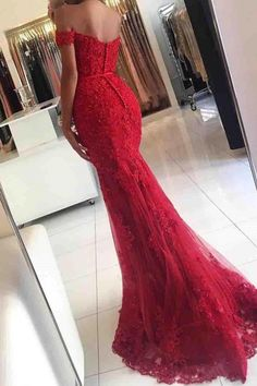 Red Lace V Neck Prom Dresses Long Mermaid Evening Dresses Elegant Formal Gowns Sexy Party Dress For Women Pageant Gowns Red Lace Prom Dress, V Neck Prom Dresses, Elegant Prom Dresses, Mermaid Prom Dresses, Cheap Prom Dresses, Formal Evening Dresses, Evening Gowns, Evening Party, Party Dresses