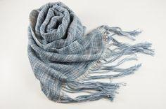 絣糸の手織りミニストール | ハンドメイド、手作り作品の通販 minne(ミンネ)