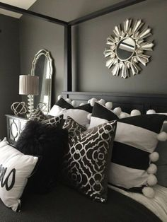 Majestic Best Pillows decorate your bed decor tips gray walls mirror black bed pillows in white and black zrywepr