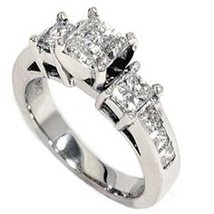 womens wedding ring princess cut white gold this classic womens princess cut engagement ring features