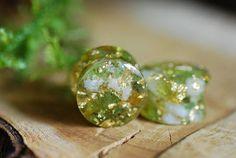 Peridot and Citrine Plugs Green Gauges Gemstone Plugs 24K