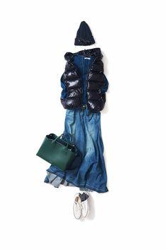 なんだか、あたらしい Mode Outfits, Trendy Outfits, Fall Outfits, Denim Fashion, Sneakers Fashion, Womens Fashion, Japan Fashion, Daily Fashion, Mein Style