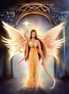"""Rashnu"" ~ Persian Divine Angel Goddess of Justice"