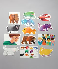 Look at this Brown Bear, Brown Bear, What Do You See? Wall Decoration Set on #zulily today!