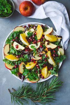 Julsallad Vegetarian Xmas, Xmas Food, I Want To Eat, Easy Healthy Recipes, Healthy Food, Vegan Dinners, Caprese Salad, Vegetable Pizza, Salad Recipes