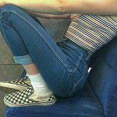 Here is Checkered Vans Outfit Ideas for you. Checkered Vans Outfit outfits with checkered ways to wear checkerboard vans. Aesthetic Fashion, Aesthetic Clothes, Look Fashion, 90s Fashion, Korean Fashion, Fashion Outfits, Fashion Trends, Aesthetic Grunge Outfit, Skater Fashion