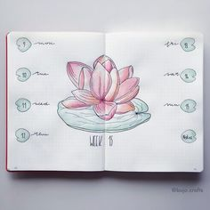 water lily  weekly spread! Have a nice week everybody! • Pen brushes @stationeryisland.uk spring colours