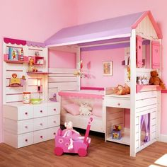 fun and stylish little girls bedroom furniture design, princess
