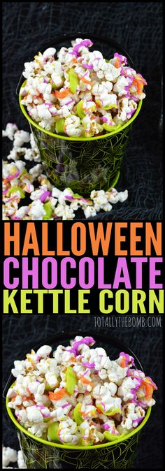 halloween chocolate kettle corn