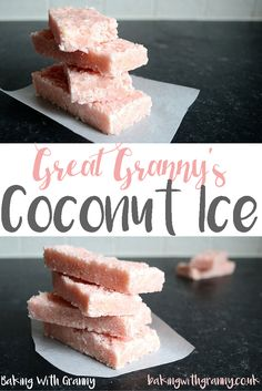 Great Granny's Coconut Ice Recipe