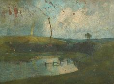 An image of Autumn showers by E Phillips Fox