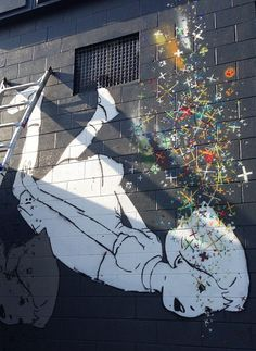 Dreamy Street Art of Children by Amanda Mando Marie - Adventures of Yoo Dope Art, Street Art Graffiti, Chalk Art, Street Artists, Banksy, Public Art, Installation Art, Decoration, Creative Art