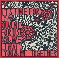you & me together print three color choices by swallowfield