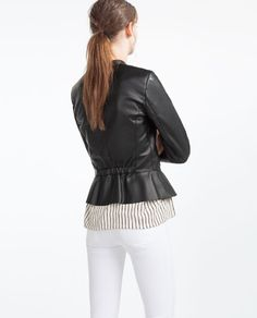 ZARA - COLLECTION SS16 - PEPLUM JACKET
