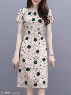 Round Neck Polka Dot Printed Skater Dress cute dresses cute dresses casual cute dresses for summer cute dresses for women cute dresses casual summer Cheap Skater Dresses, Cheap Dresses Online, Floral Skater Dress, Cute Dresses, Casual Dresses, Skater Dress Homecoming, Dress Outfits, Fashion Dresses, Dress Shoes