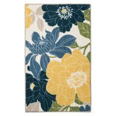 Threshold™ Spring Floral Kitchen Rug - Blue. Image 1 of 3.