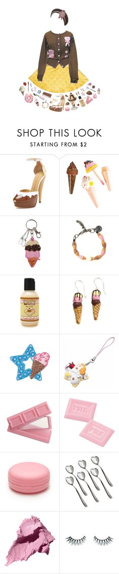 """ice cream social"" by sookii ❤ liked on Polyvore featuring Galaxxxy, Charlotte Olympia, Venessa Arizaga, Hershey's, Disney, Forever 21, Alessi, Bobbi Brown Cosmetics, Napoleon Perdis and Anna Sui"