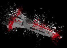 steel canvas Movies & TV battlestar galactica bsg viper mark ii 2 shatter